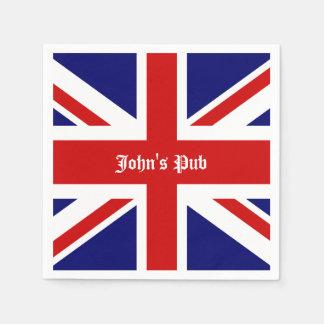 Union Jack personaliseerde Britse Bar Papieren Servetten