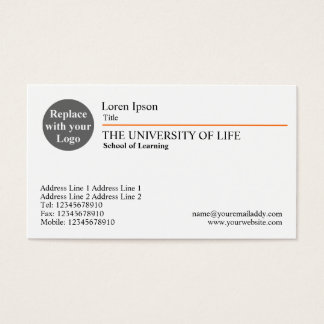 Universiteit van het Leven - Oranje Regel Visitekaartjes