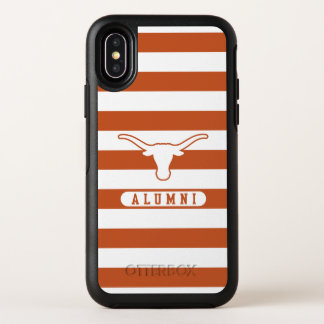 Universiteit van Texas | Gestreept Patroon van OtterBox Symmetry iPhone X Hoesje