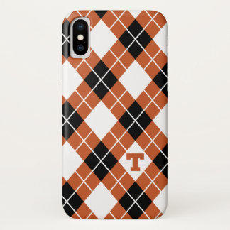 Universiteit van Texas | Patroon Argyle iPhone X Hoesje