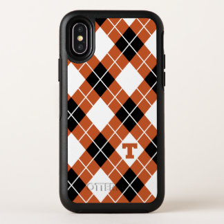 Universiteit van Texas | Patroon Argyle OtterBox Symmetry iPhone X Hoesje