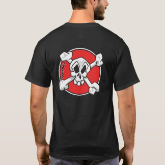 UpOnOne.com Schedel en het Logo van Gekruiste T Shirt