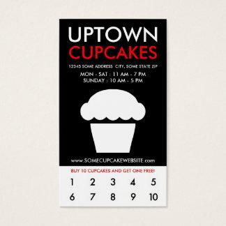 uptown cupcakes loyaliteit visitekaartjes