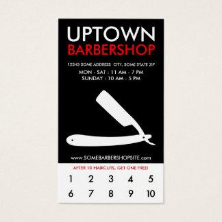 uptown herenkapperloyaliteit visitekaartjes