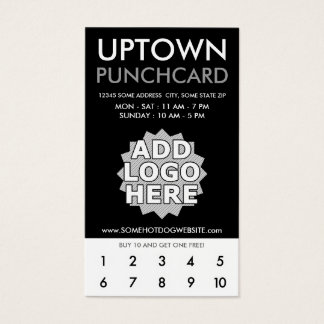 uptown loyaliteitsponskaart visitekaartjes