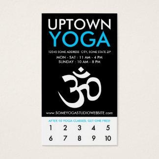 uptown om yogaloyaliteit visitekaartjes