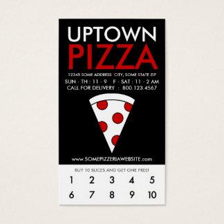 uptown pizzaloyaliteit visitekaartjes