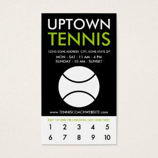uptown tennisloyaliteit visitekaartjes
