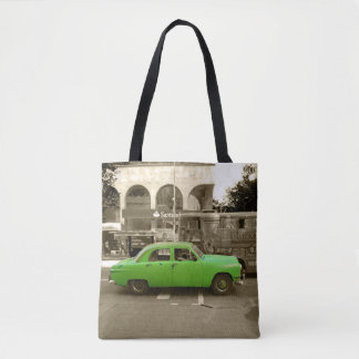 Uruguayan oude groene auto draagtas
