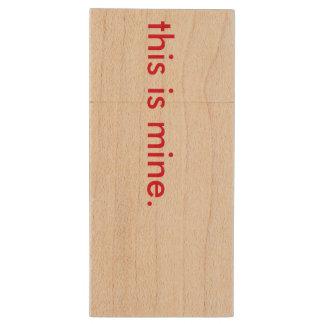 usb flitsaandrijving houten USB 2.0 stick