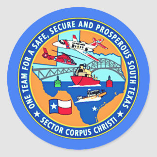 USCG Post Corpus Christi Texas Ronde Sticker