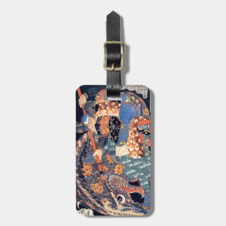 Utagawa Kuniyoshi die Miyamoto Nue ukiyo-E doden Kofferlabels