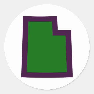 Utah (G&P) Ronde Sticker