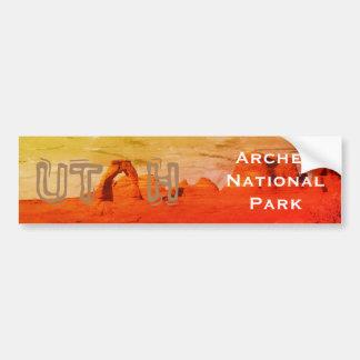 UTAH, het Nationale Park van Bogen Bumpersticker