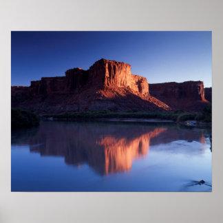 Utah, mesa die van A in Rivier 2 nadenken van Poster