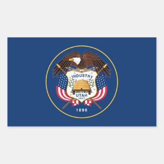 Utah staatsvlag verenigd Amerika republieksymbool Rechthoekige Sticker