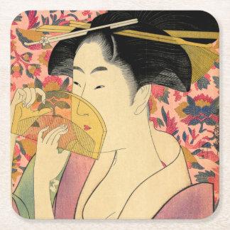 Utamaro: Kushi (Kam). Vierkante Onderzetter