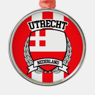Utrecht Zilverkleurig Rond Ornament