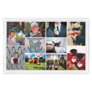 UW 10 FOTO'S & de douanedienbladen van de TEKST Acryl Dienblad