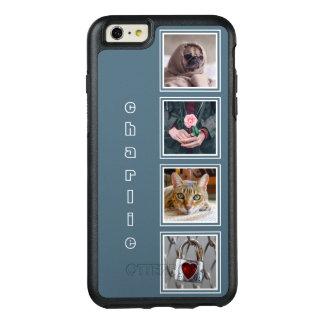 UW 4 FOTO'S INSTAGRAM & NAAM KLEUREN OtterBox iPhone 6/6S PLUS HOESJE