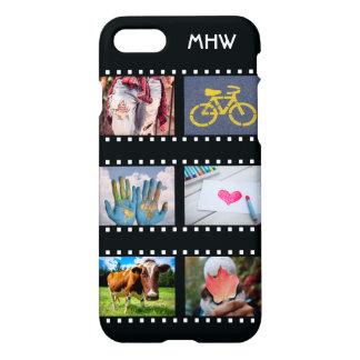 UW 6 FOTO'S & douane van het MONOGRAM telefoneren iPhone 8/7 Hoesje