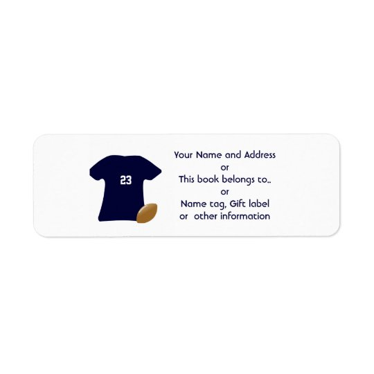 Uw Adresetiket van de Terugkeer van het Overhemd Etiket