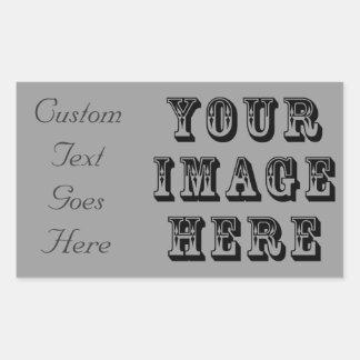 Uw Afbeelding van de Vakantie Rechthoekige Sticker