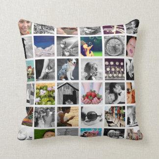 Uw Collage van de Foto werpt Hoofdkussen Sierkussen