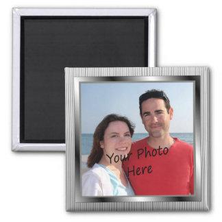 Uw Foto op Zilveren Ontworpen Magneet