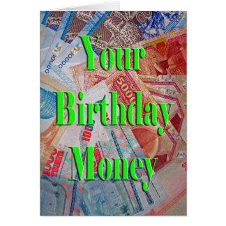 Uw Geld van de Verjaardag Wenskaart