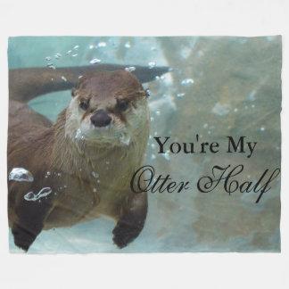 Uw mijn Zwemmen van de Otter van de Rivier van de Fleece Deken