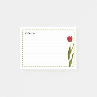 Uw Naam - de Rode BloemenFotografie van de Lente Post-it® Notes
