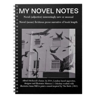 Uw Nieuwe/nieuwe nota's. Zwarte met de Vogels Notitieboek