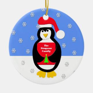 Uw Ornament van Kerstmis van de Familie -- Pinguïn