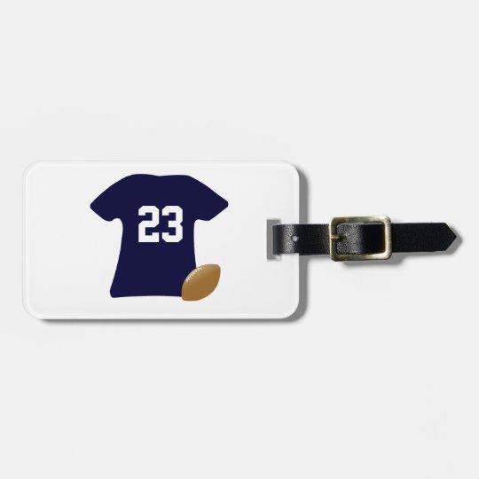 Uw Overhemd van het Football met Bal Bagagelabel