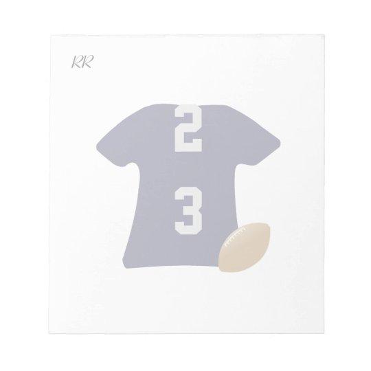 Uw Overhemd van het Football met Bal op Kleine Notitieblok