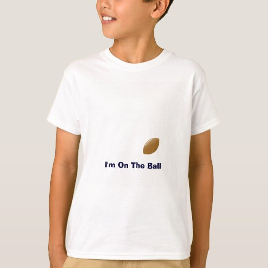 Uw Overhemd van het Football met Bal op T-shirt