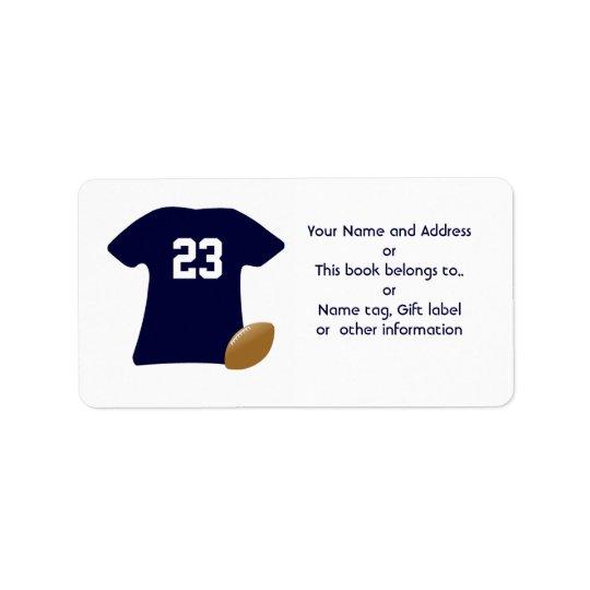 Uw Overhemd van het Football met de Amerikaanse Addressticker