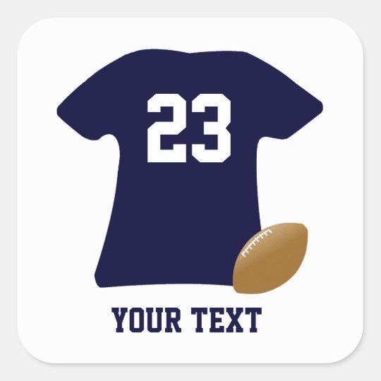 Uw Overhemd van het Football met de Amerikaanse Vierkant Sticker