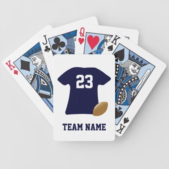 Uw Overhemd van het Football met de Speelkaarten Pak Kaarten