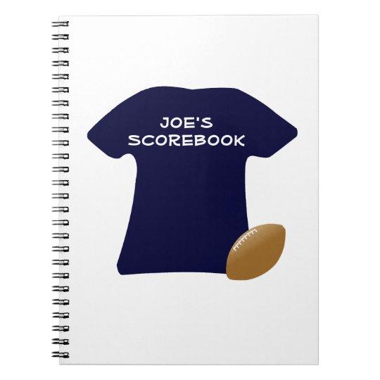 Uw Overhemd van het Football met het Notitieboekje Notitieboek