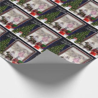 Uw Scène van het Lijst van Kerstmis van de foto Cadeaupapier