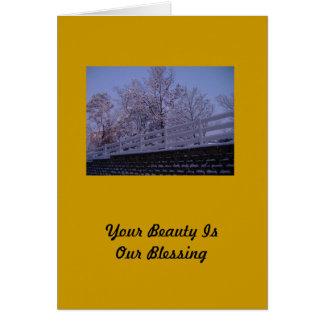 Uw Schoonheid is Onze Zegen Wenskaart