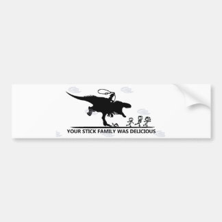 Uw Stok Family/T-rex Bumpersticker