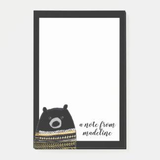 Uw Tekst | Zwarte van de Sweater van de Winter Post-it® Notes