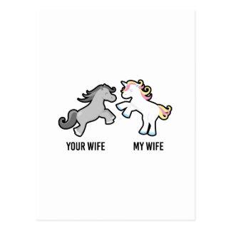 Uw Vrouw Mijn Eenhoorn van de Vrouw Briefkaart