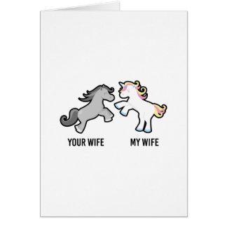 Uw Vrouw Mijn Eenhoorn van de Vrouw Briefkaarten 0