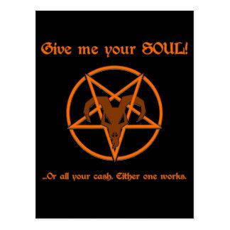 Uw Ziel of Pentacle van de Satan van het Contante Briefkaart