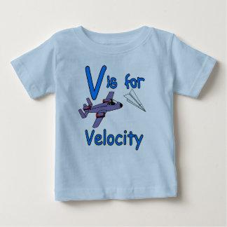 V is voor Snelheid Baby T Shirts