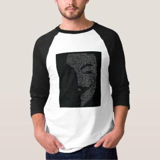 V protestoverhemd, 3/4 sleeves t shirt